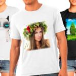 реклама на футболках
